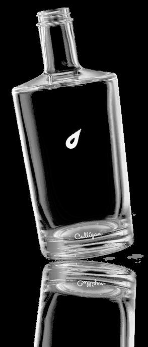 Culligan Glasflasche mit Tropfen und Logo